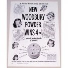 1948 Woodbury Powder Venus Powder Box Vintage Print Ad