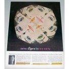 1962 Cutex Eye Make-Up Vintage Color Print Ad - Eyes By Cutex