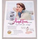 1951 Pond's Angel Face Makeup Mirror Case Vintage Color Print Ad
