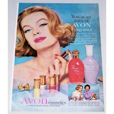 1961 Avon Cosmetics Color Print Ad - Avon Fragrance