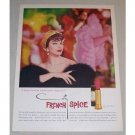 1958 Coty French Spice 24 Lipstick Color Print Ad