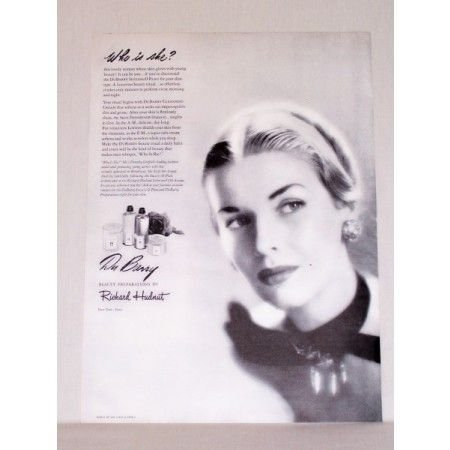 1948 Du Barry Cosmetics Vintage Print Ad - Who Is She?