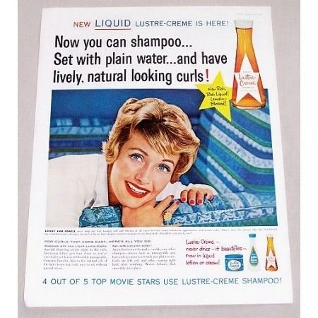 1960 Lustre Creme Shampoo Vintage Color Print Ad Celebrity Jane Powell