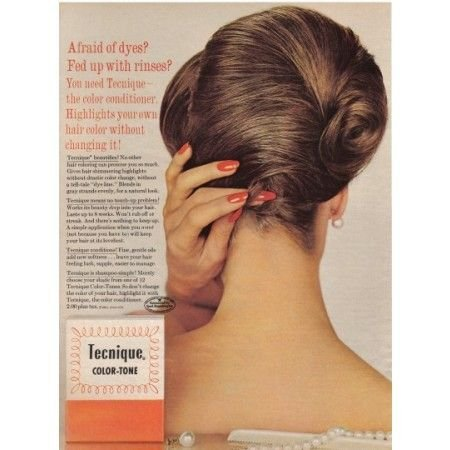 1962 Tecnique Color Tone Conditioner Vintage Color Print Ad