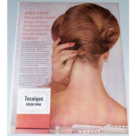 1962 Tecnique Color Tone Conditioner Color Print Ad