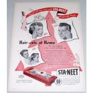 1948 Sta Neet Hair Trimmer Vintage Color Print Ad - The Family Barber