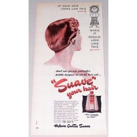 1949 Helen Curtis Suave Vintage Color Print Ad - Suave Your Hair