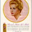 1960 Breck Hair Set Mist Vintage Color Print Ad - Beautiful Hair