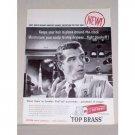 1958 Revlon Top Brass Men's Hair Dressing Vintage Print Ad