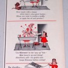 1954 Kleenex Tissues Little Lulu Art Vintage Color Print Ad
