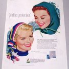 1958 Kotex Color Winter Art Vintage Color Print Ad - Perfect Protection