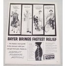 1960 Bayer Aspirin Vintage Print Ad - Bayer Brings Fastest Relief