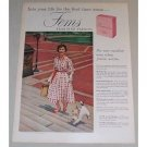 1958 Fems Feminine Napkins Vintage Color Print Ad
