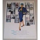 1958 Tampax Feminine Napkins Color Print Ad