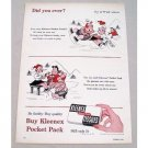 1955 Kleenex Tissues Little Lulu Marge Art Color Print Ad