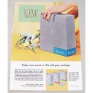 1955 Kotex Napkins Color Print Ad - Grey Package