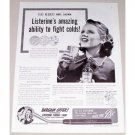 1941 Listerine Oral Antiseptic Throat Light Offer Vintage Print Ad