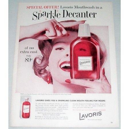 1960 Lavoris Mouthwash Gargle Color Print Ad