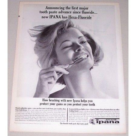1962 Inpana Toothpaste Vintage Print Ad - Hexa-Fluoride