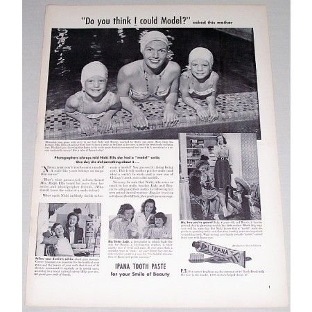 1948 Ipana Tooth Paste Vintage Print Ad - Do You Think I Could Model?
