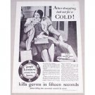 1931 Listerine Antiseptic Vintage Print Ad - After Shopping