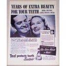 1944 Teel Liquid Dentifrice Vintage Print Ad - Years Of Extra Beauty