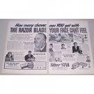 1950 Blue Star Silver Star Razor Blades 2 Page Vintage Print Ad