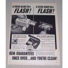 1949 Gem Push Pack Razor Blades Shaving Vintage Print Ad