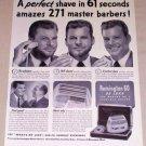 1953 Remington 60 Deluxe Shaver Vintage Print Ad - Nick Wanderer