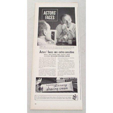 1948 Williams Shaving Cream Vintage Print Ad Celebrity Henry Hull