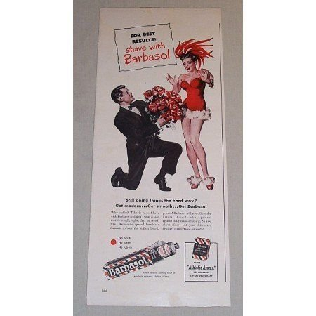 1948 Barbasol Beard Softener Color Print Art Ad