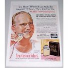 1954 Schick Super-Honed Electric Shaver Color Print Art Ad