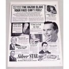 1949 Silver Star Double Edge Razors Shaving Vintage Print Ad