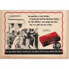 1940 Gillette Thin Blades Shaving Vintage Print Ad - Goodbye Bristles