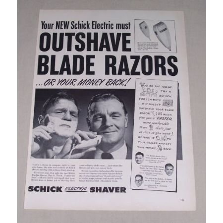1949 Schick Electric Shaver Vintage Print Ad - Schick Super