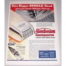 1948 Sunbeam Shavemaster Electric Shaver Color Print Ad
