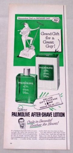 1953 Palmolive After Shave Lotion Fathers Day Color Print Ad