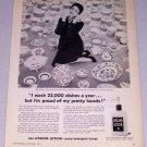 1954 Jergens Lotion Skin Cream Vintage Print Ad Mrs. Dorian Mehle