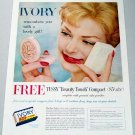 1958 Ivory Soap Tussy Beauty Touch Compact Color Print Ad