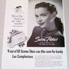 1948 Lux Toilet Soap Vintage Print Ad Celebrity Susan Peters
