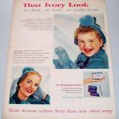 1957 Ivory Soap Color Print Ad -That Ivory Look