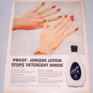 1957 Jergens Hand Lotion Color Print Ad