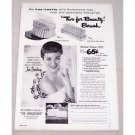 1953 Lux Soap Beauty Brush Offer Vintage Print Ad Celebrity Jan Sterling