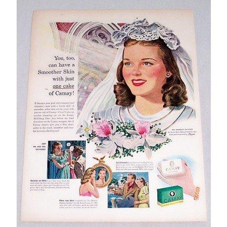 1947 Camay Soap Color Wedding Art Color Print Ad