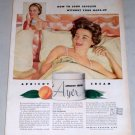 1953 Ayer Apricot Cream Skin Cleanser Color Print Ad
