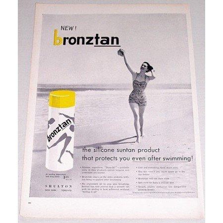 1955 Shulton Bronztan Suntan Product Vintage Print Ad