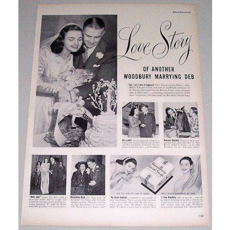1948 Woodbury Facial Soap Vintage Print Ad - Love Story