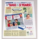 1947 Ivory Soap Sweepstakes Art Color Print Ad