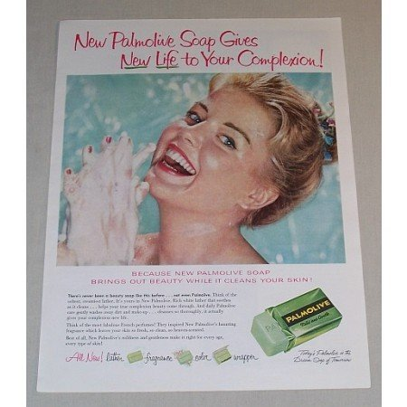 1958 Palmolive Soap Color Print Ad - New Life