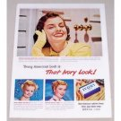 1949 Ivory Soap Color Print Ad Celebrity Cover Girl Pat Barnard